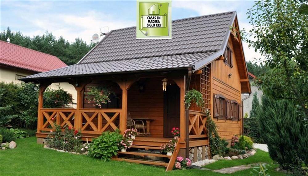 Resultado de imagen para casas coloniales peque as for Cabanas de madera pequenas