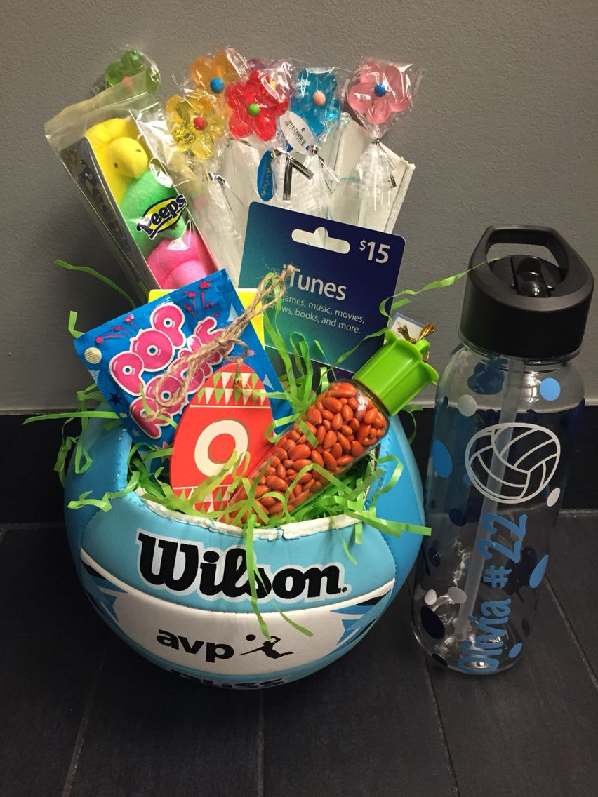 Volleyball Easter Basket Sports Easter Basket Volleyball Senior Gifts Diy Volleyball Gifts