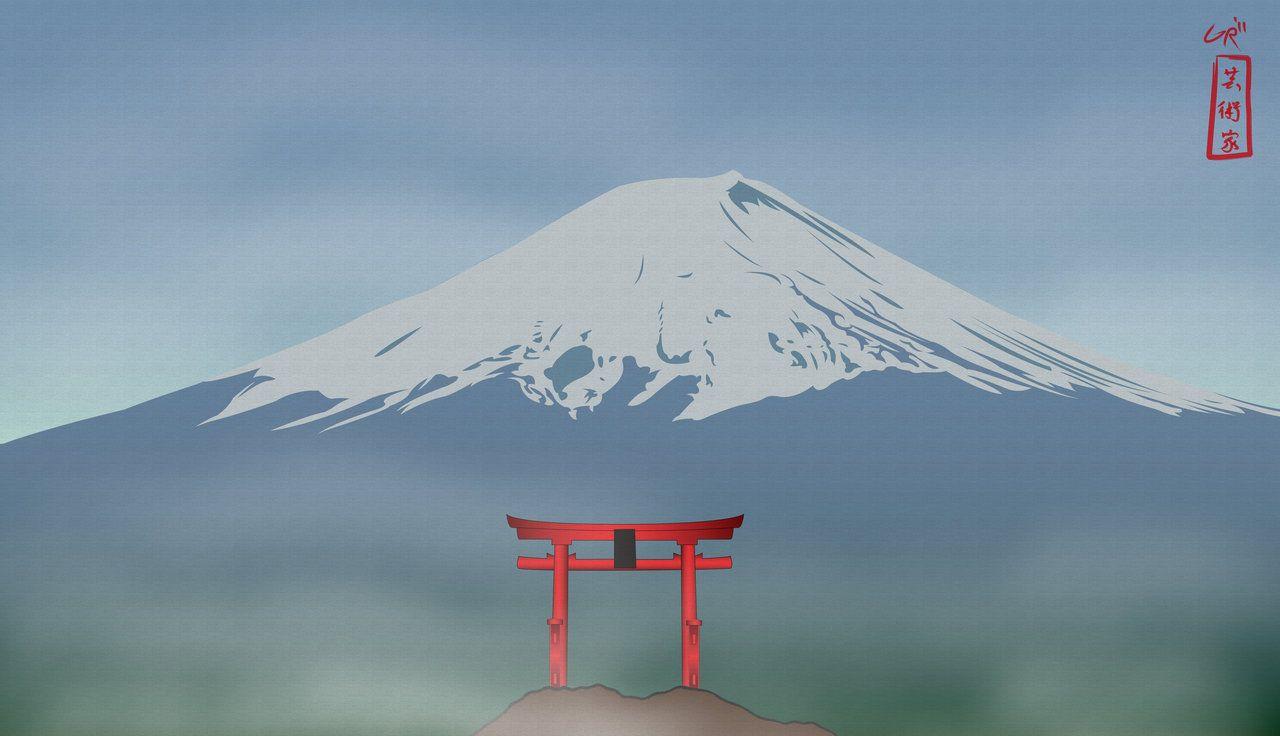 Image from http://img08.deviantart.net/82fa/i/2011/077/7/a/mount_fuji_by_xxgdogg17xx-d3by1lh.jpg.