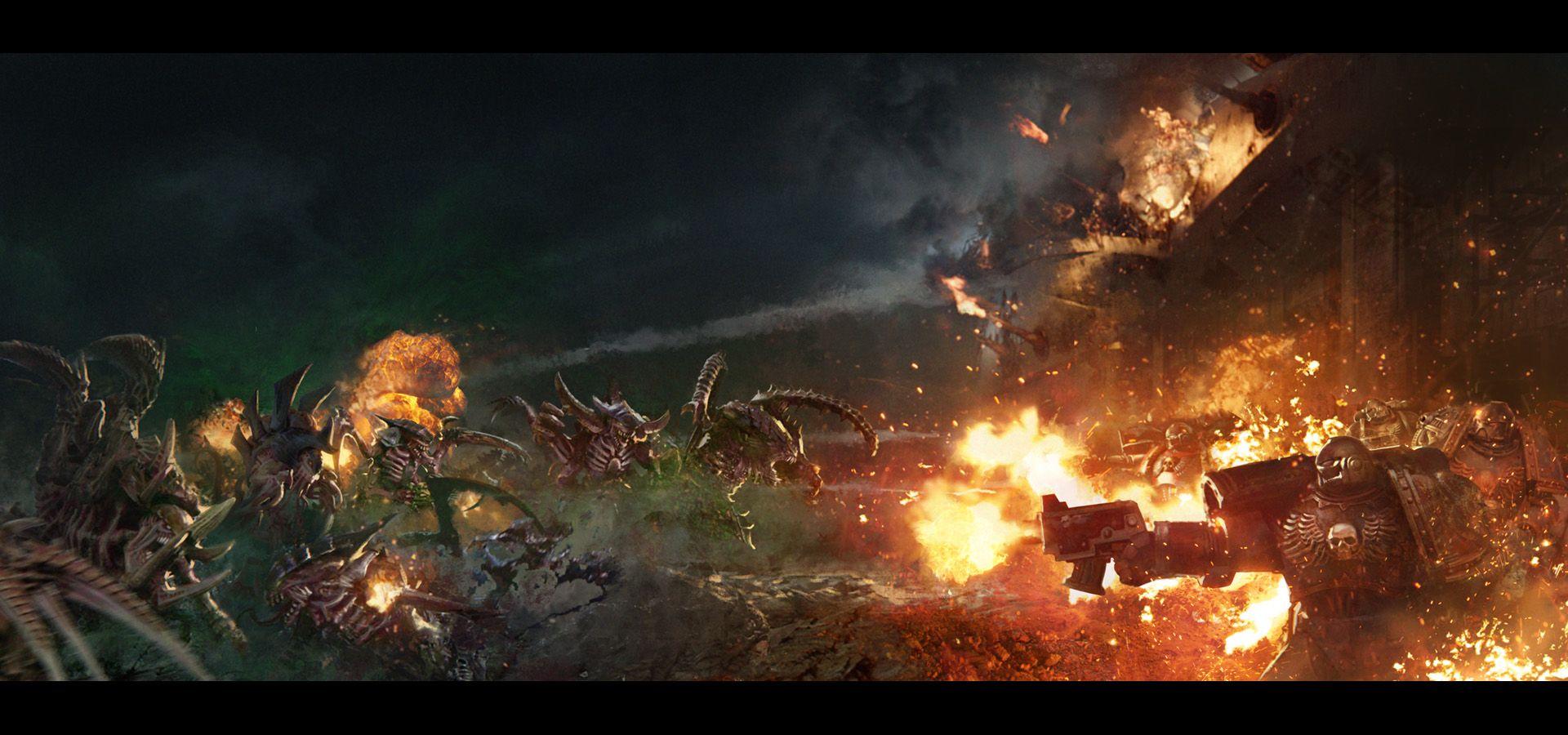 Shield of Baal: Tyranids vs Flesh Tearers by agnidevi.deviantart.com on @DeviantArt