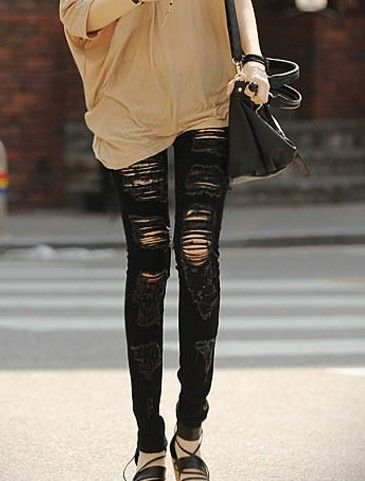 Details about NEW Black Slashed Ripped Destroyed Skinny Jean - Low ...
