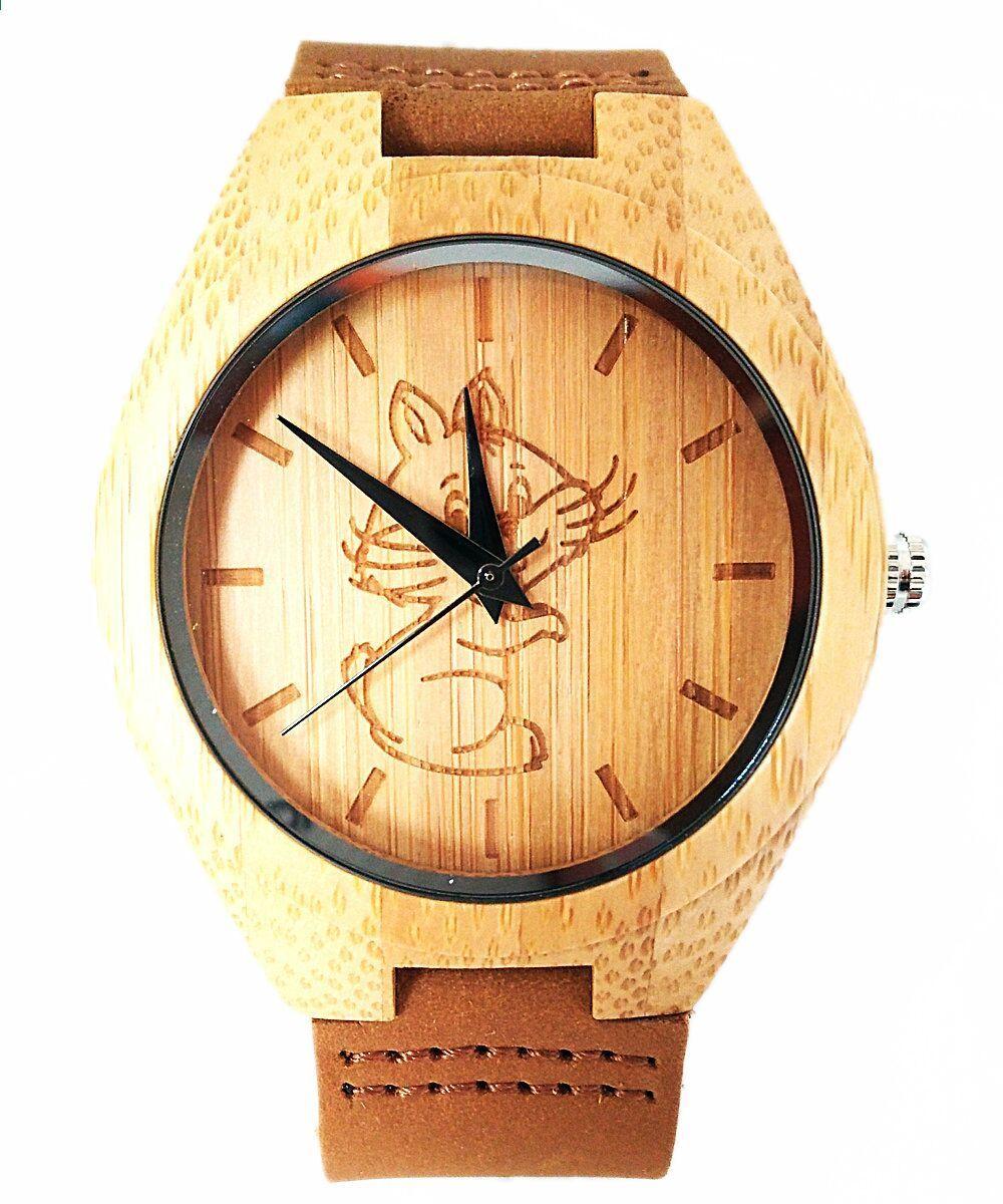 16ede2573b2e Orologi da polso da donna Bamboo Wood quarzo orologi da donna Analog Casual  Fashion Bamboo wooden