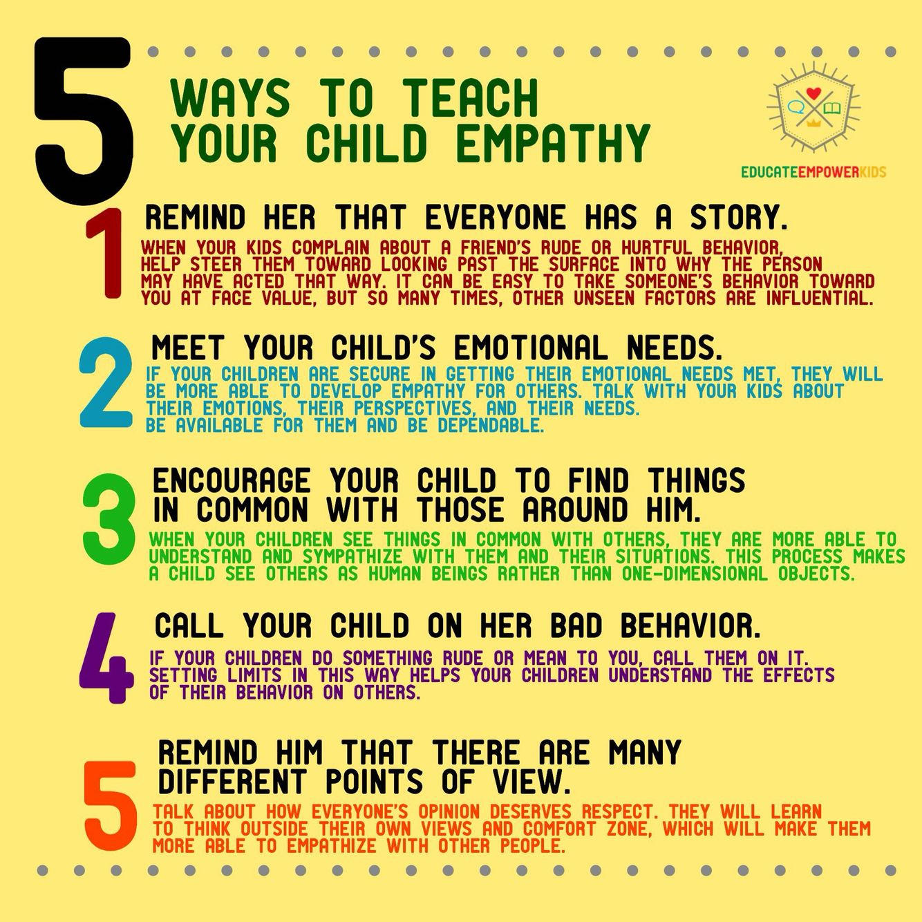 Teaching empathy | Things we should be teaching our kids | Pinterest