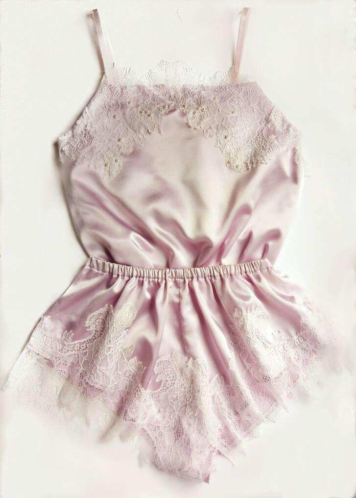 Lavender silk lingerie,  lingerie set,  silk lingerie,  satin lingerie,  French knickers,  camisole by GardenOfDelightShop on Etsy https://www.etsy.com/listing/509047854/lavender-silk-lingerie-lingerie-set-silk