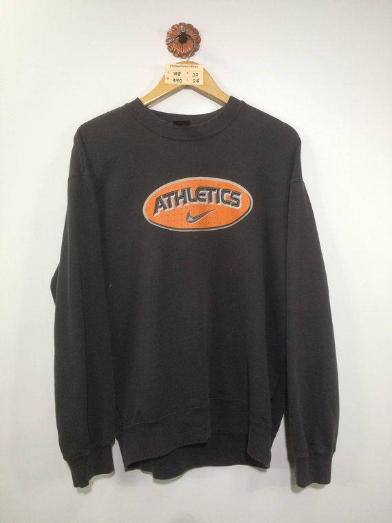 90bdd141573 Vintage 90 s NIKE Athletic Pullover Sweatshirt Mens Large Nike Swoosh  Sportswear Nike Air Crewneck S