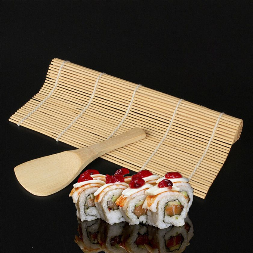 High Quality Sushi Maker Kit Rice Roll Mold Kitchen Diy Mould Roller Mat Rice Paddle Set New 5 30 Breakfast Sushi Maker Bamboo Sushi Sushi Rolling Mat