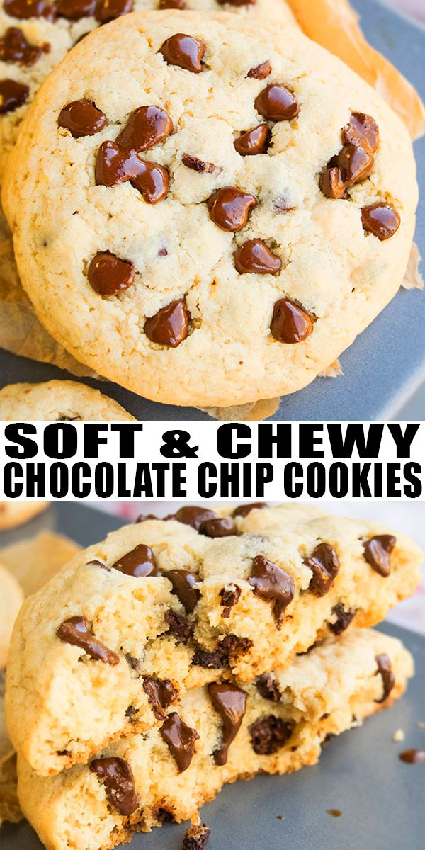BEST CHOCOLATE CHIP COOKIES RECIPE- Homemade, soft, chewy ...