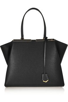77655355dbac This bag is everything... and can fit everything... Fendi 3Jours medium  textured-leather tote