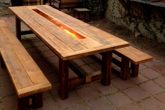 Table Is 100 Handmade Out Of Reclaimed Wood Matching Benches