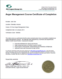 image relating to Printable Anger Management Certificate identify Pin upon Lettter of Completion