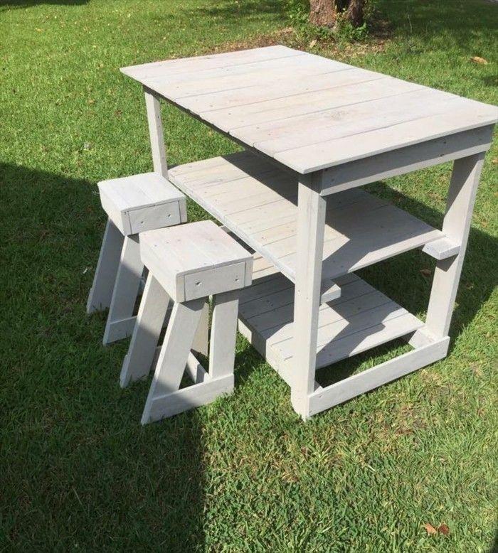 diy projekt für kücheninsel selber bauen   Möbel aus Paletten ...