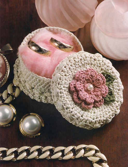 Ravelry Mini Jewelry Box pattern by Carol Alexander crochet bags