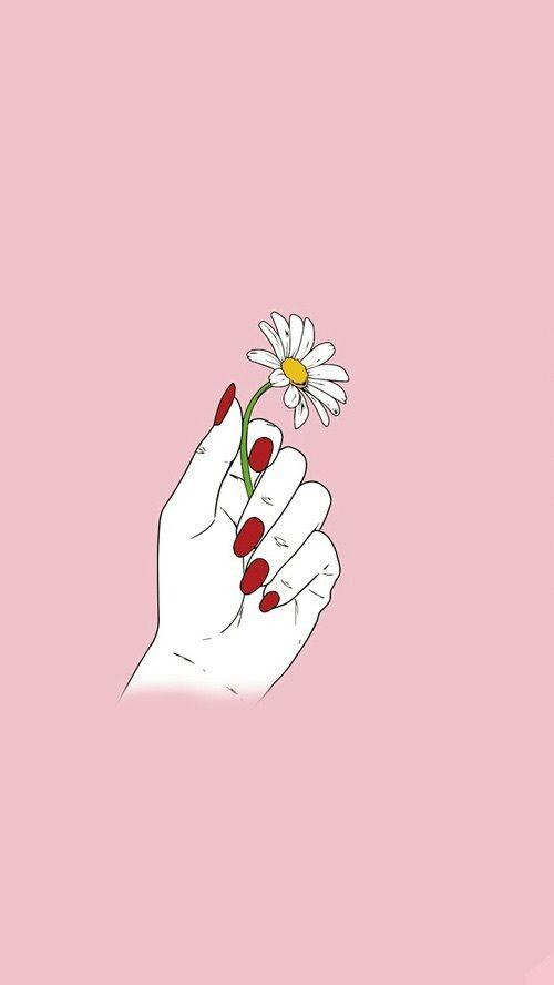 Imagen De Flowers Pink And Indie Imagem De Fundo Para Iphone