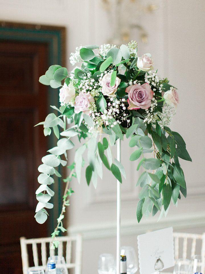 Elegant Rose u0026 Foliage Tall Floral Arrangement
