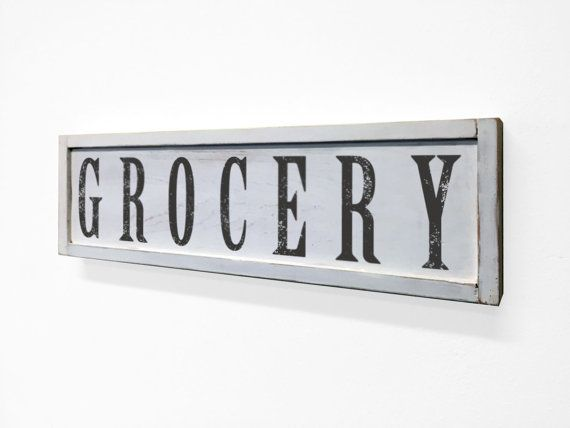 Bathroom And Kitchen Signs kitchen sign kitchen decor grocery sign rusticrusticahomedecor