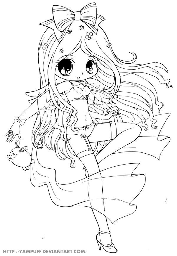 chibi Coloring Pages | Free Printable Chibi Coloring Pages For ...