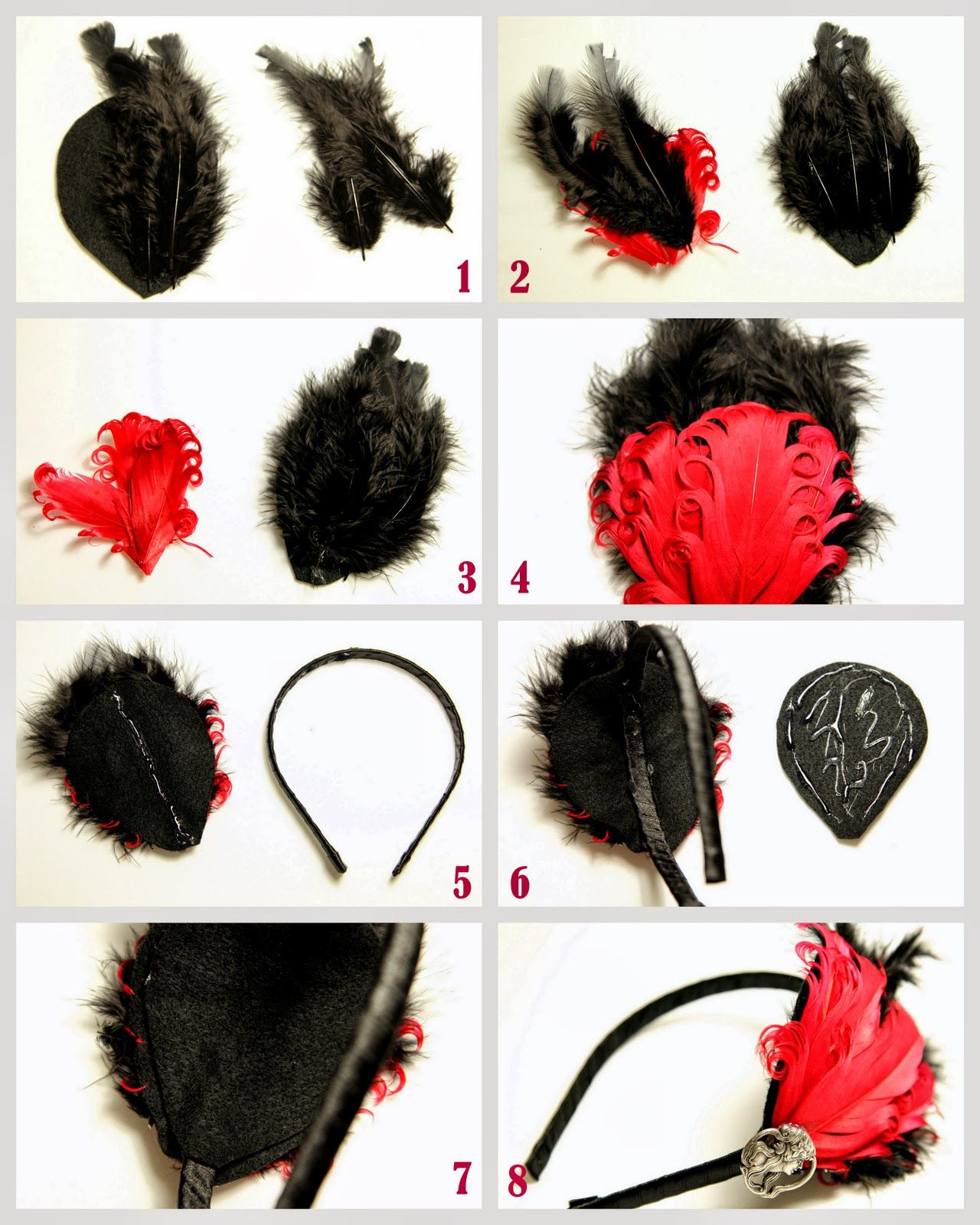How to make a fascinator headband for Melbourne Cup Day. DIY crafty.