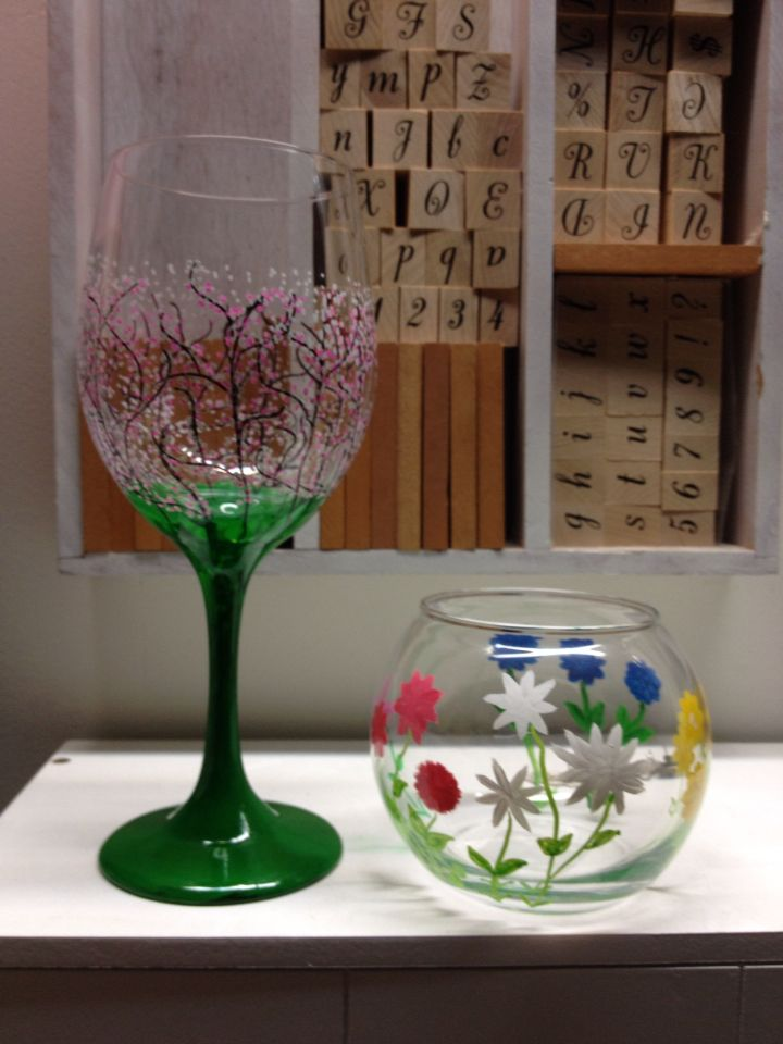 Dollar store glass with images glass painting dollar