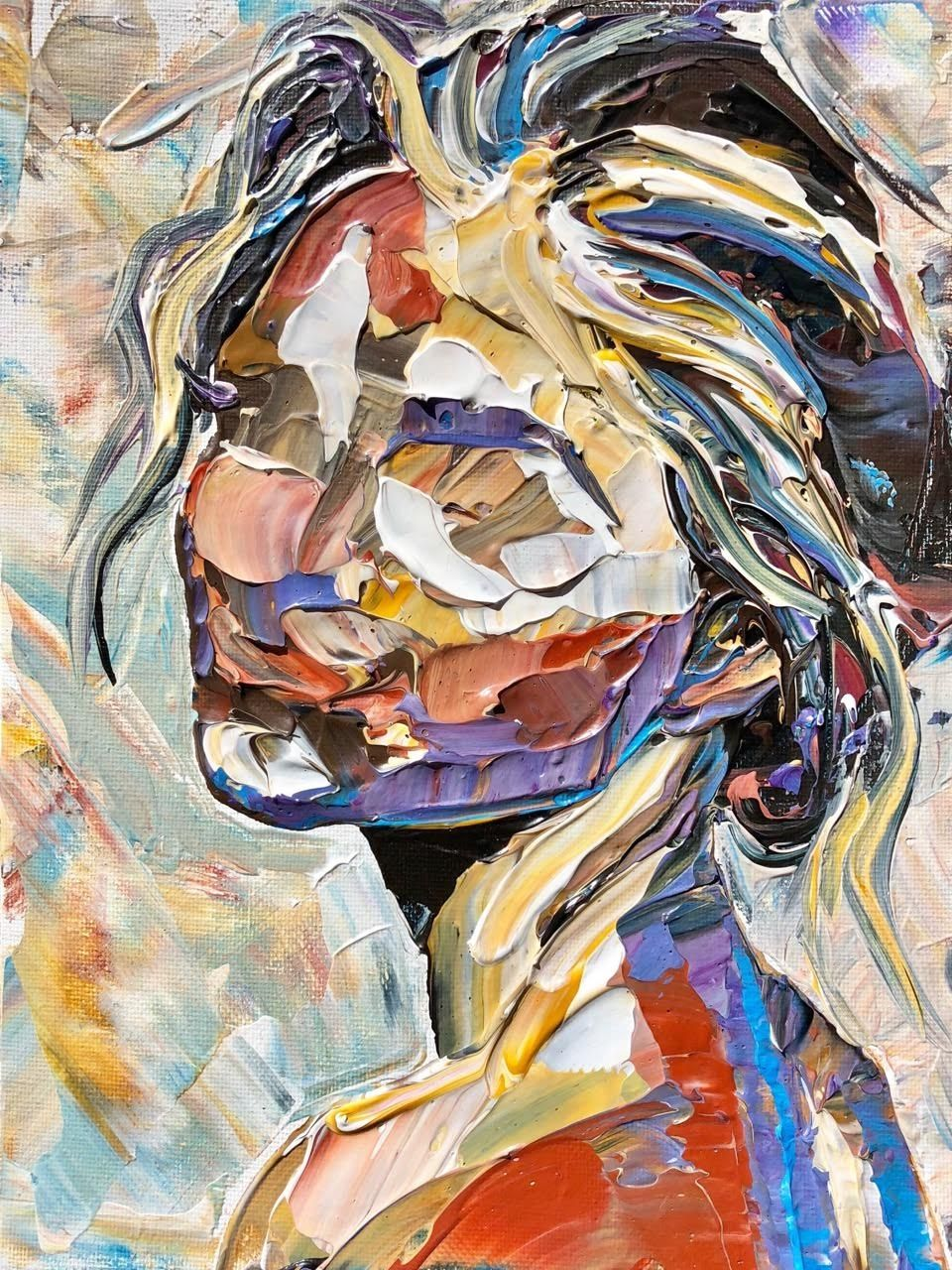 Human Blueprints Palette knife paintings that reveal the