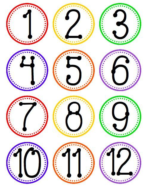 Hanging Fan Labels for Tables, Centers, or Stations with FREE Number