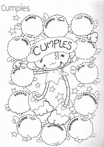Pinto Dibujos: calendario de cumpleaños para colorear | Felicidades ...