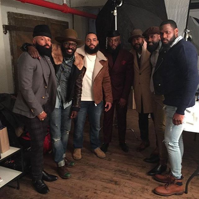 Behind the scenes at the  #BlackMenWithBeards Photoshoot with @kingly_etiquette @pythagore_hemingway_the_poet @erickmendoza553 @theogtheory @babeofbrooklyn @eclecticlifestylesbypercyhicks @geraud_singh! #blackexcellence