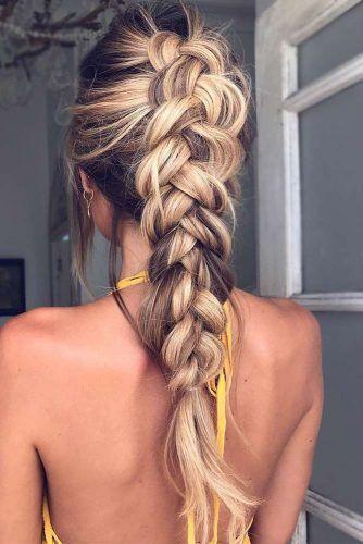 Gorgeous Ideas Of Dutch Braid Hairstyles 2018 My Stylish Zoo Hairstyles Wedding Beauty Makeup Howtotips Hai Lange Kapsels Kapsels Gevlochten Kapsels