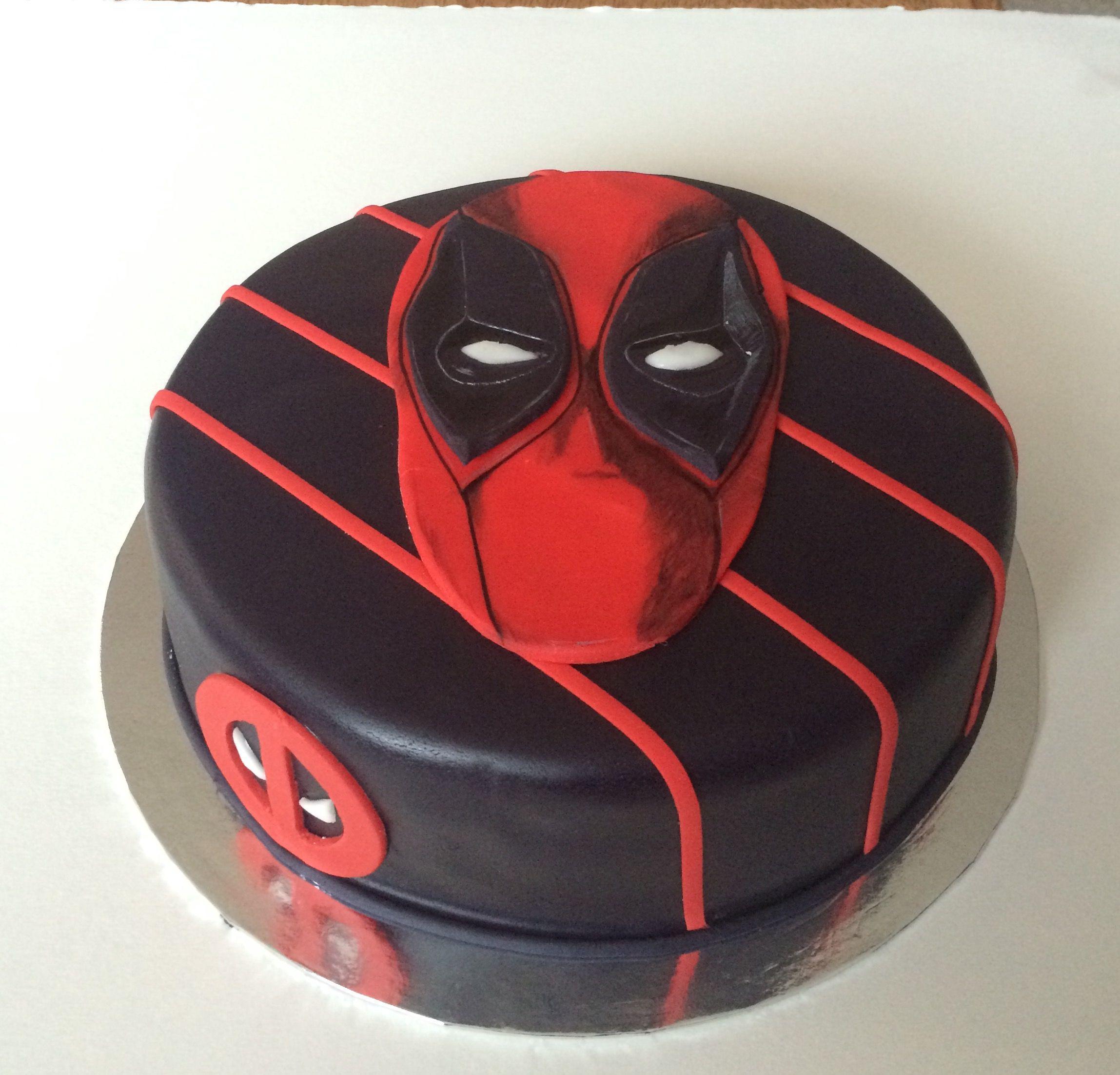 Deadpool Cake With Images Deadpool Cake Deadpool Birthday