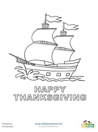 Mayflower Coloring Page All Kids Network 1st Grade Hs