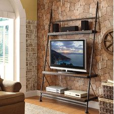 awesome home colonial living room furniture tv stand | Wayfair tv stand ladder-industrial | entertainment center ...