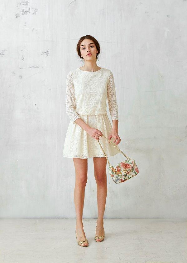 Robe dentelle blanche sezane