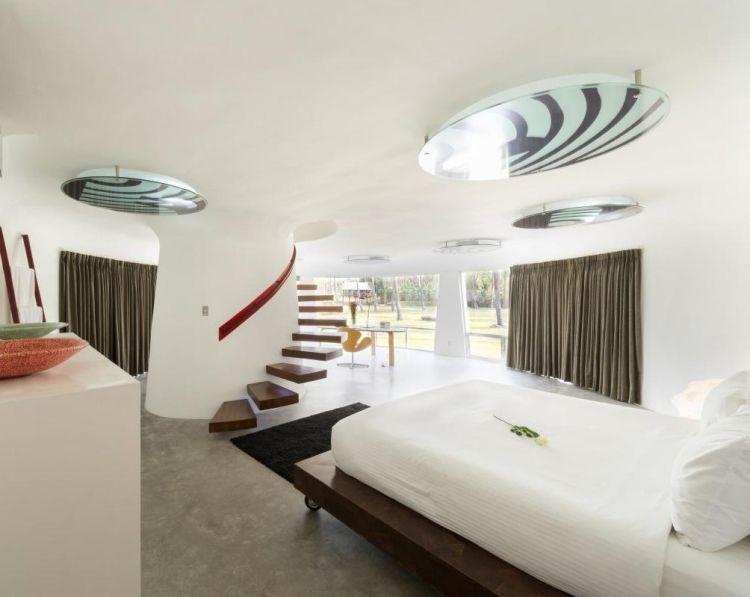 Ausgezeichnet Ideen Terrassenüberdachung Bilder Schlafzimmer schlafzimmer mit integrierter treppe zum oberen geschoss modern