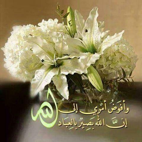 وافوض امري الى الله ان الله بصير بالعباد Arabic Calligraphy Art Islamic Pictures House Gate Design