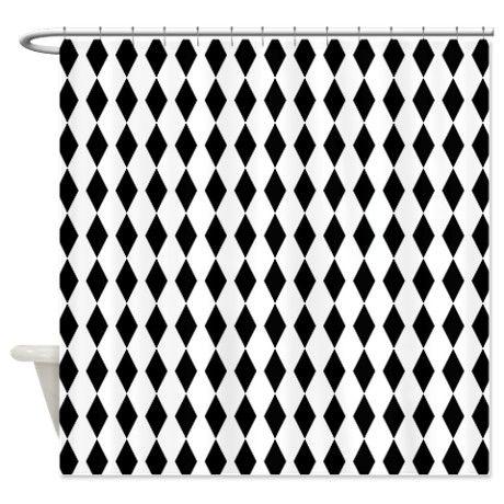 Black Harlequin Shower Curtain on CafePress.com