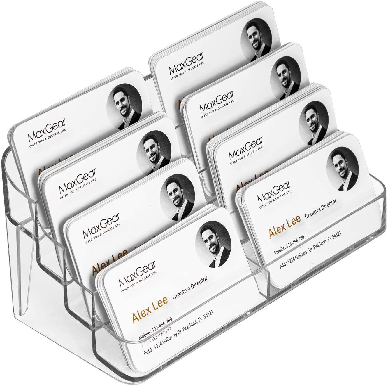 Desk Business Card Holder In 2021 Business Card Holders Cards Card Holder