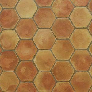Hexagonal Terracotta Floor Tiles
