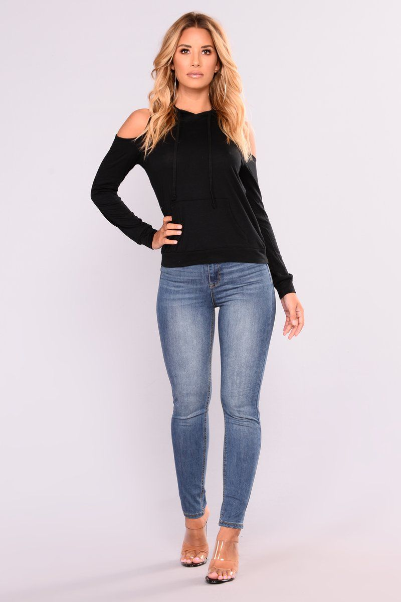 Flashback Hooded Sweater Black Hooded Sweater Black Sweaters Ankle Jeans