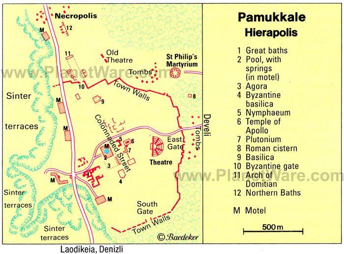 Pamukkale Floor Plan Map See