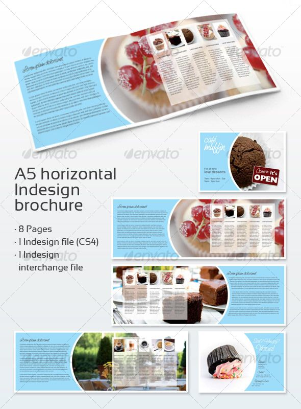 Cafe Brochure A  Brochures Corporate Brochure And Brochure Template