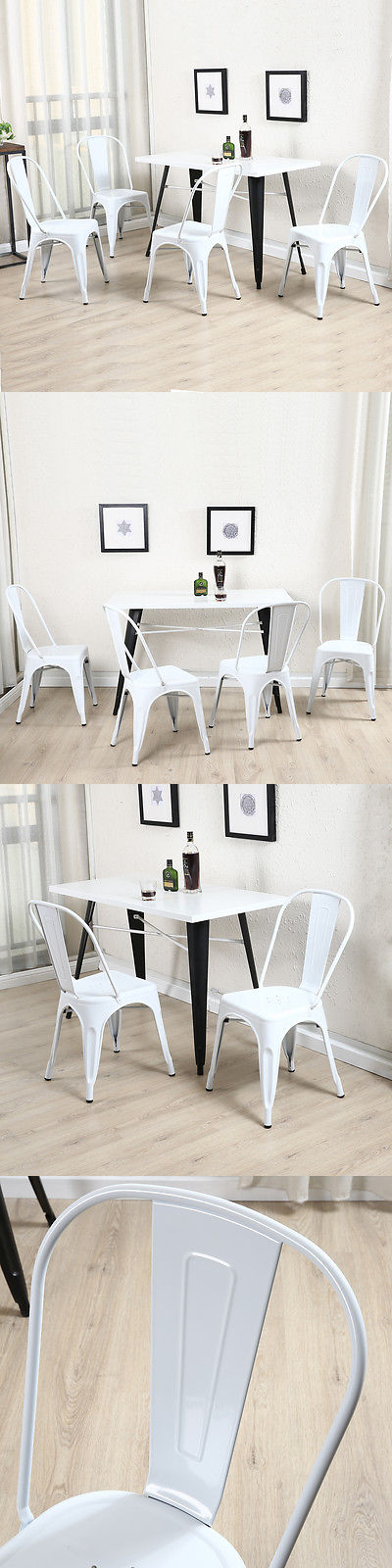 Bar Stools 153928: Vintage Style Bar Chair Set Of (4) White Chairs Bistro Dining Cafe Stacking -> BUY IT NOW ONLY: $149.99 on eBay!
