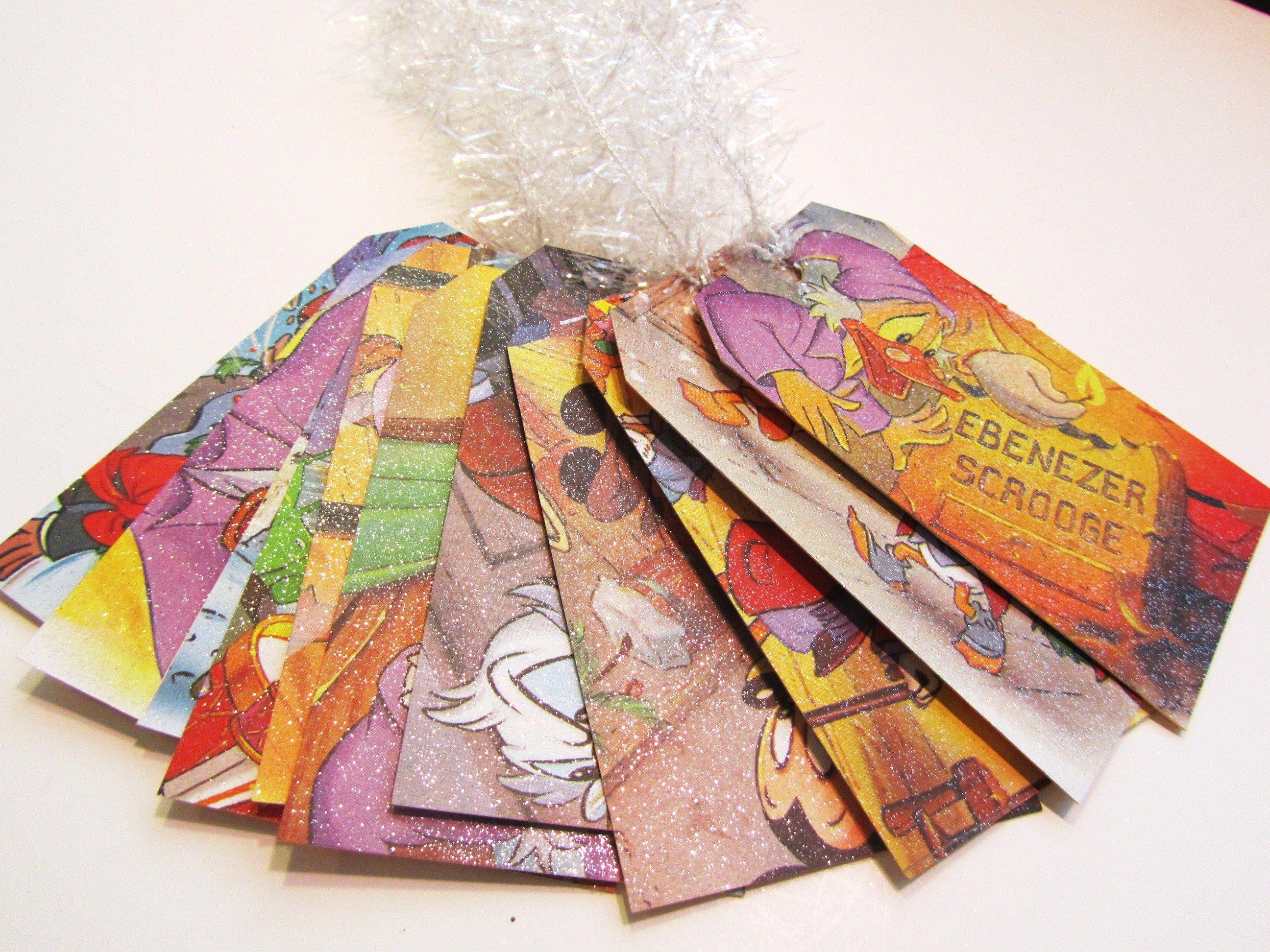 Disney Christmas Carol gift tags