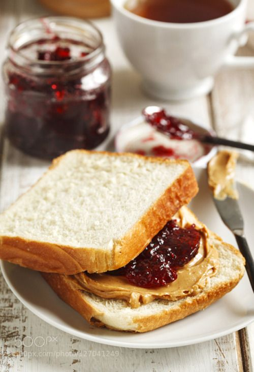 Peanut Butter and Jelly Sandwich by anjelagr  IFTTT 500px wooden american background bread breakfast brown butter closeup creamy cup delicious e