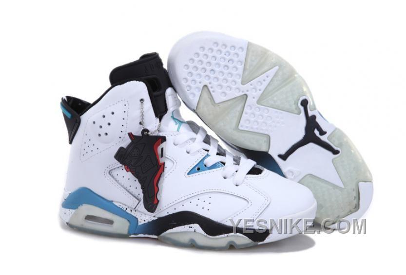 d3d39a61560c23 Sale Discount White Black Blue Women Air Jordan 6 Fashion Shoes Store Nike  Air Jordan 6