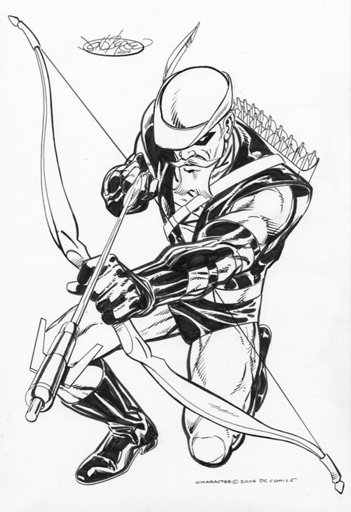 Green Arrow Commission By John Byrne 2006 Dessin