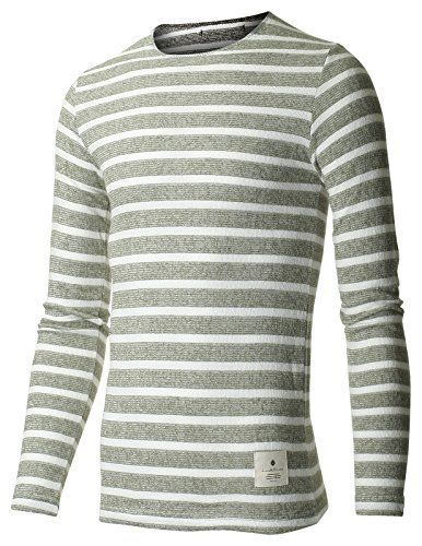 FLATSEVEN Men's Slim Fit Traditional Stripe Crewneck Tee Shirt with Long Sleeve (TRL3001) Khaki, L FLATSEVEN http://www.amazon.com/dp/B00QCYW5EW/ref=cm_sw_r_pi_dp_0YXYub0TRR4F1 #FLATSEVEN #STRIPE #TEE