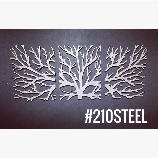 Crawling Branches 3 Piece Metal Wall Art Part 64