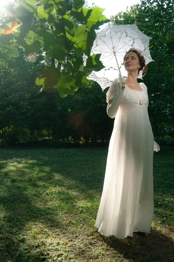 Regency dress, Jane Austen gown, Reenactment Costume, made to order ...
