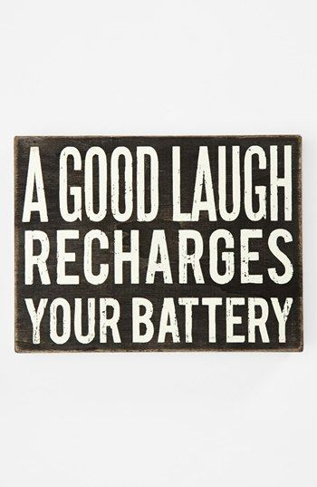 Motivation Quotes : 'A Good Laugh' Box Sign | Nordstrom