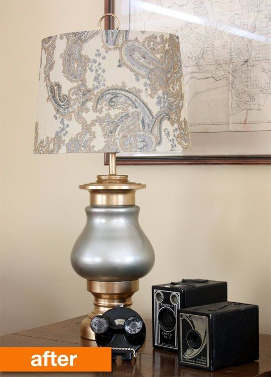 Before After A Dumpster Lamp Gets A New Life Lamp Makeover Old Lamps Lamp