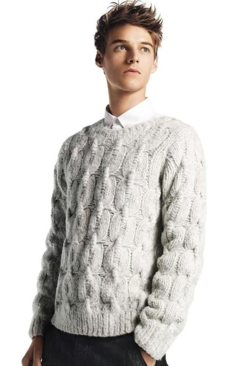 cable knit sweater for men